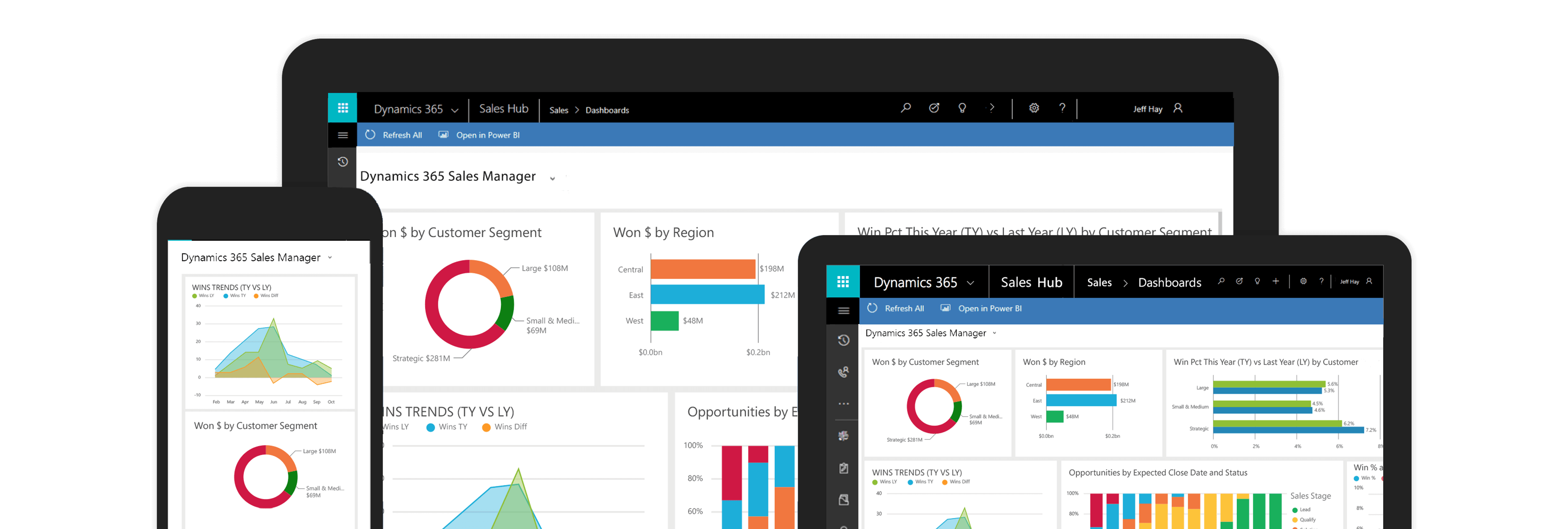 Captura de tela do Dynamics 365 for Sales