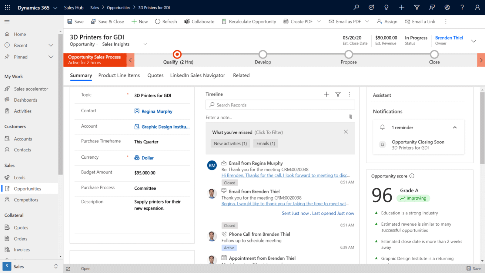 Dynamics 365 Sales Enterprise